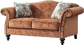Acanva Velvet Living Room Sofa, Loveseat, Tangerine