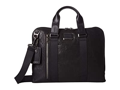 Tumi Alpha Bravo Aviano Slim Brief (Black) Briefcase Bags