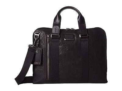 Tumi Alpha Bravo Aviano Slim Brief (Black) Briefcase Bags