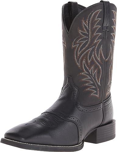 Ariat - Chaussures Sport Western Western à à Bouts carrés Larges pour Hommes, 40 M EU, noir Deertan noir  40% de réduction