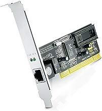 CSL - Tarjeta de Red PCI Gigabit LAN Adaptador Fast Ethernet 10 100 1000 DSL Realtek - 2000 Mbit dúplex Completo - 32 bits - Bus PCI 2.2