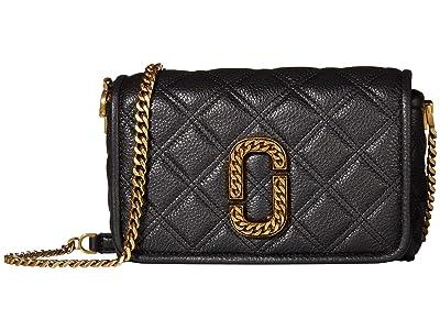 Marc Jacobs Flap Crossbody (Black) Handbags