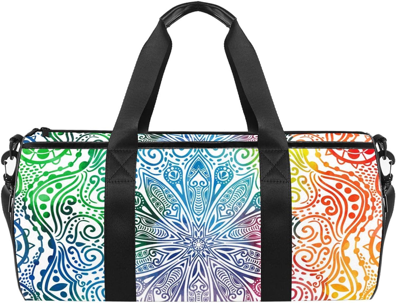Dragon Sword Colorful Max 59% Quantity limited OFF Mandala Designed Fashion Duffel Travel Bag