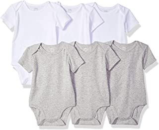 Amazon Essentials Baby 6-Pack Short-Sleeve Bodysuit