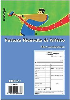 E5918 EDIPRO Blocco comande 3 tagliandi 25x3 autoricalcante f.to 17x9,9 pezzi 20