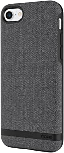 Incipio IPH-1485-CGY Carnaby iPhone 8 & iPhone 7 Case [Esquire Series] with Co-Molded Design and Ultra-Soft Cotton Finish for iPhone 8 & iPhone 7 - Gray