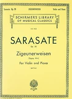 ZIGEUNERWEISEN OP20 VIOLIN PIANO GYPSY AIRS (Schirmer Library of Classics)