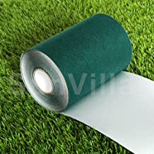 SunVilla 6IN X 33FT Artificial Grass Green Joining Fixing Turf Self Adhesive Lawn Carpet Seaming Tape-6 in x 33 FT (15 cm X 10 m), Dark
