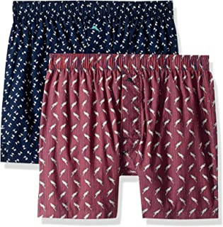 Tommy Bahama Men's 2 Pack Printed Woven Boxer Short Set