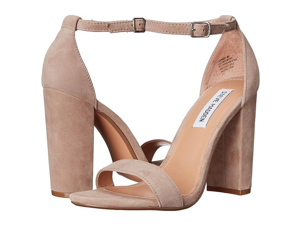 Steve Madden Carrson Heeled Sandal (Taupe Suede) High Heels
