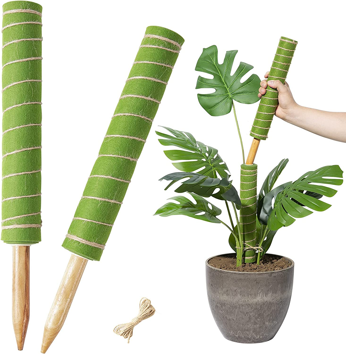 Yangbaga 2pcs 28.7in Moss Pole Climbing for Plants Fabric Industry Sale special price No. 1