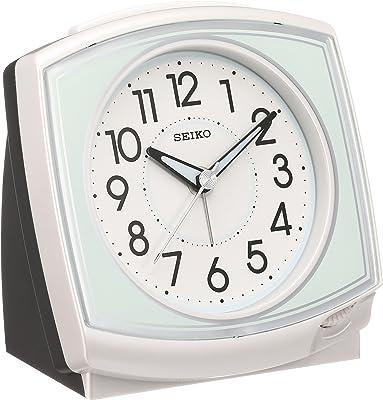 セイコー クロック 目覚まし時計 アナログ 白 パール KR891W SEIKO
