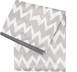 """Bumkins Splat Mat, Waterproof, Washable for Floor or Table, Under Highchairs, Art, Crafts, Playtime – Gray Chevron 5"""" Grey..."""