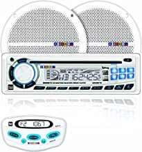 Dual MXCP7030 Marine AM/FM/MP3/WMA CD Receiver With (1) Pair 6.5-Inch Dual Cone Speakers