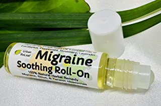 Urban ReLeaf MIGRAINE Soothing Roll-On ! 100% Natural Herbal Remedy for Migraines, Sinus, Tension Headaches. Roller Ball/Handy Pocket Stick. Made in USA! It Works Fast! Take The Edge Off Pain.