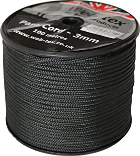 Web-tex - Fallschirmschnur-Rolle - 3 mm dick - 100 m Länge