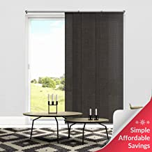 Chicology Adjustable Sliding Panels, Cut to Length Vertical Blinds, Nautical Grey (Light Filtering) - Up to 80