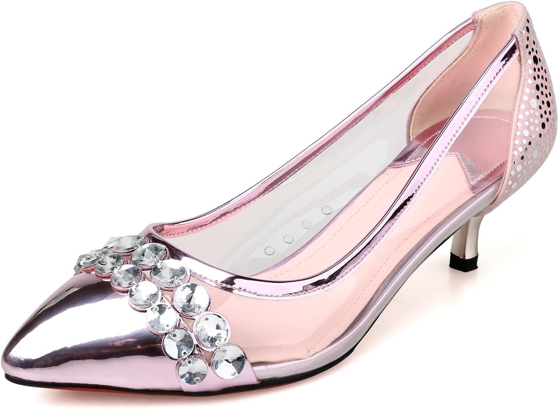 edcbbf2d63 MINIVOG High Heel Womens Pumps shoes Rhinestone Pink nvtawr8599-New ...