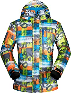 Men's Ski Jacket Outdoor Waterproof Windproof Coat Snowboard Mountain Rain Jacket New