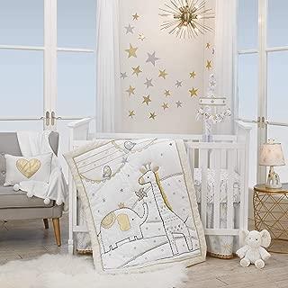 Lambs & Ivy Signature Jamboree 3-Piece Crib Bedding Set - Gray, Gold, White