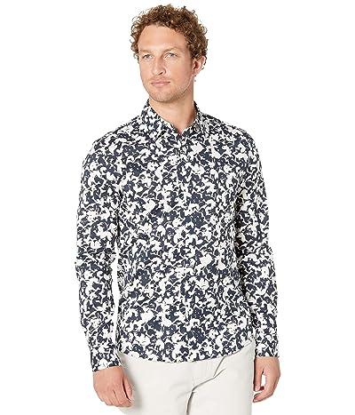 Michael Kors Long Sleeve Leaf Print Shirt