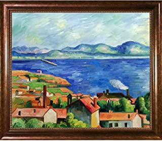 overstockArt The Gulf of Marseilles Painting with Verona Cafe by Cezanne