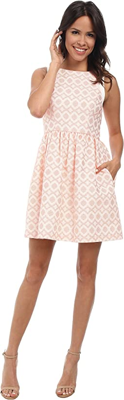 Coral Overlay Dress