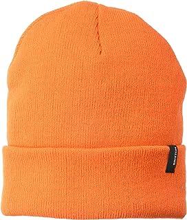 Knitted Beanie Orange Motamec Racing Fleece Bobble Hat