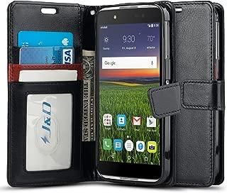 Alcatel Idol 4 Case, J&D [Wallet Stand] [Slim Fit] Heavy Duty Protective Shock Resistant Flip Wallet Case for Alcatel Idol 4 - Black