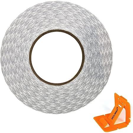2mm*50メートル 9080 Hi-Temp 両面テープ 携帯電話修理用 – 2mm粘着テープ LED 液晶パネル用接着剤 粘着剤 白 (2mm)