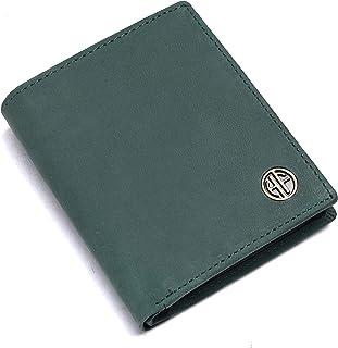 Hammonds Flycatcher RFID Protected Light Turquoise Vintage Leather Wallet for Men 6 Card Slots  1 Coin Pocket 4 Hidden Com...