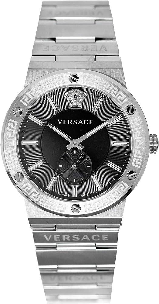 Versace orologio da uomo con logo in acciaio inossidabile VEVI00720