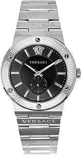 Versace - Greca VEVI00720 - Reloj de pulsera para hombre con logo de acero inoxidable