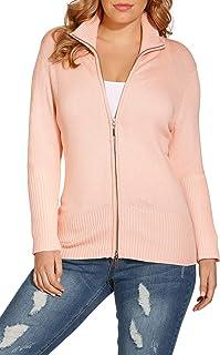 Boston Proper Beyond Basics Women's Mock Neck Zip Up Cardigan Sweater
