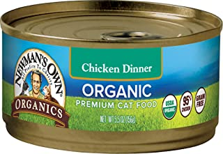 Newman'S Own Organics Grain-Free Canned Cat Food Chicken