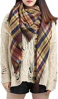Spring Fever Large Tartan Plaid Cashmere Feel Soft Cozy Warm Lightweight Blanket Scarf Wrap Shawl