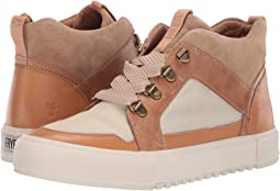 Beige Multi Washed Antique Pull Up/Suede/Canvas