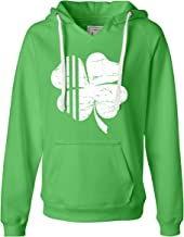 Go All Out Womens Distressed Shamrock St. Patrick's Day Irish Pride Deluxe Soft Hoodie