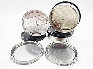 10X 100ml Press It In pressitin Tuna Tins 3.5g Self seal Tuna Tins With Black Lids stash tins (10x) per pack