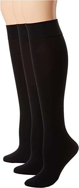 HUE - Soft Opaque Knee High 3-Pack