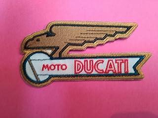 Parches Termoadhesivos,Parche Bordado para la Ropa Termoadhesivo PATCHMANIA Ducati Corse Logo 8,0 CM Parche