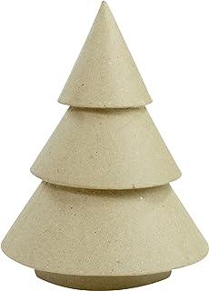 Decopatch–Árbol de Navidad para Decorar (Papel maché, tamaño pequeño), Color marrón