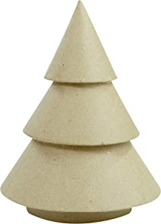 décopatch Mache Solid Christmas Tree, 14 x 14 x 18 cm, Brown