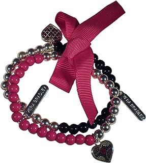 Vera Bradley Beaded Bracelet Duo in Canterberry Magenta