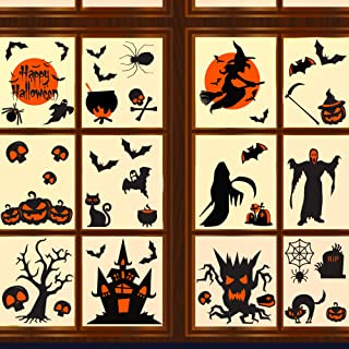 Halloween Decorations Clings Window Decals 42ct