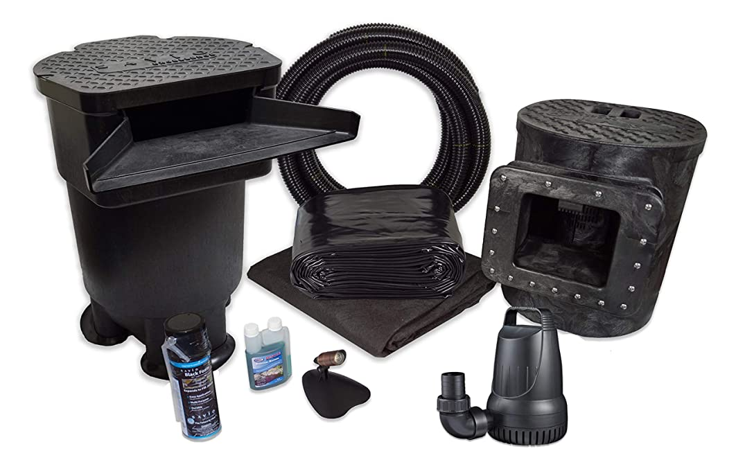 Half Off Ponds - PVCMDSUV6 - Savio Signature 4100 Complete Water Garden and Pond Kit with Compact Skimmer, 22