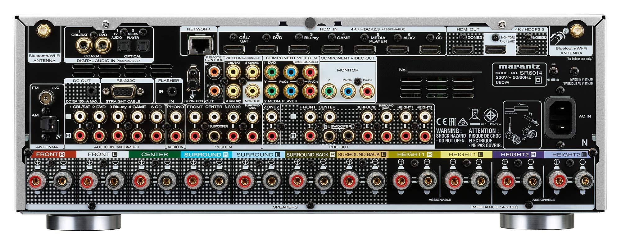 WLAN Y Heos Receptor AV Marantz Sr6014 9.2 Plata//Oro con Bluetooth Marantz Deutschland