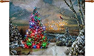 lighted christmas tapestry wall hangings