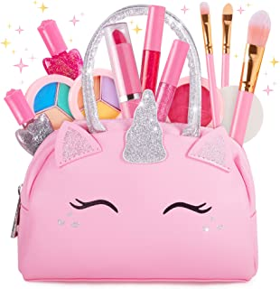 Sprinkles Toyz Kids Real Makeup Kit for Little Girls: with Pink Unicorn Make up Bag - Real, Non Toxic, Washable Make Up To...