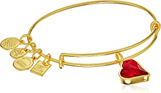 red heart charm bracelet